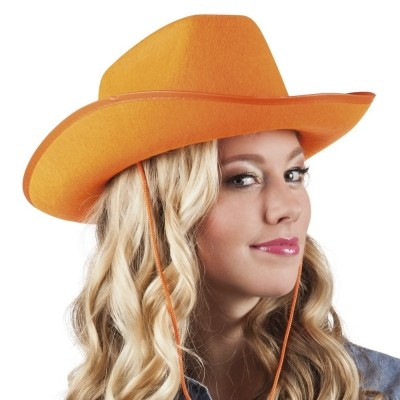 Foto van Hoed vilt Cowboy oranje
