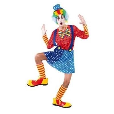 Foto van Blauwe clown vrouw volwassen maat