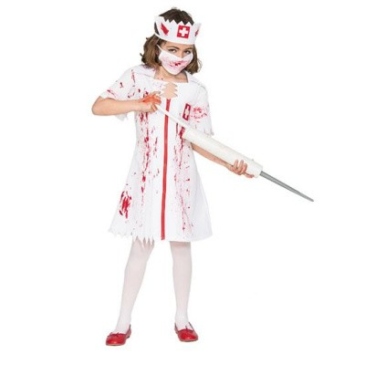 Foto van Zombie zuster kostuum kind