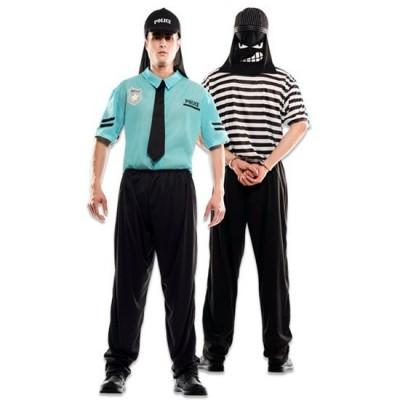 Foto van Dounle fun! Politie en boeven kostuum