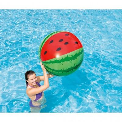 Foto van Opblaas watermeloen strandbal