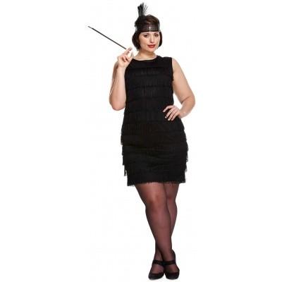 Foto van Jaren 20 jurkje zwart (plus size)