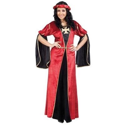 Foto van Middeleeuwse jurk - rood