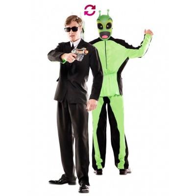 Foto van Double fun! Men in Black kostuum