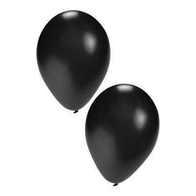 Foto van Ballonnen zwart 50 stuks 10inch