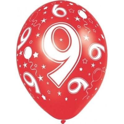 Foto van Ballonnen 5 stuks 9 jaar