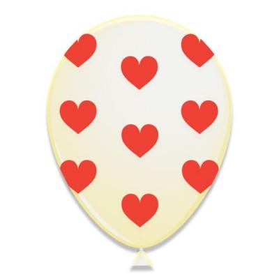 Foto van Hartjes ballonnen rood 6 stuks 30cm