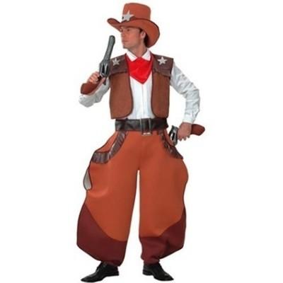 Foto van Cowboy kostuum wijde pijpen