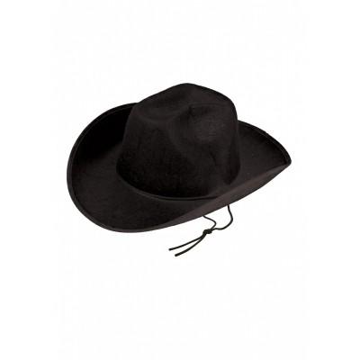 Cowboy hoed vilt zwart