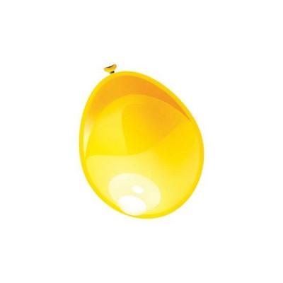 Ballonnen Metallic geel 10st.