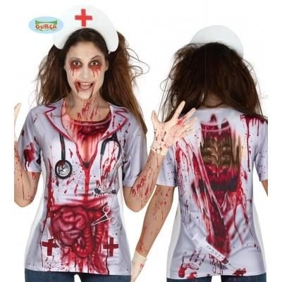 Foto van Zombie zuster shirt