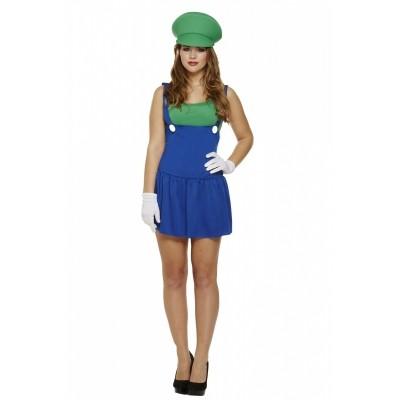 Foto van Luigi kostuum vrouw