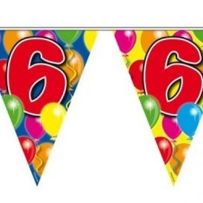 Foto van Vlaggenlijn balloons 6 jaar 10m/stk