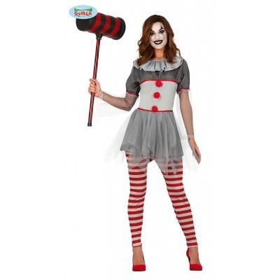 Horror clown kostuum dames