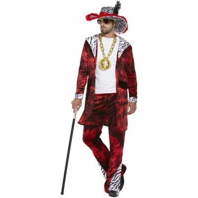 Foto van Pooier / pimp kostuum - Rood
