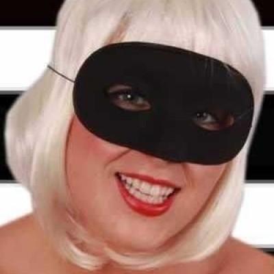 Foto van Oogmasker domino zwart