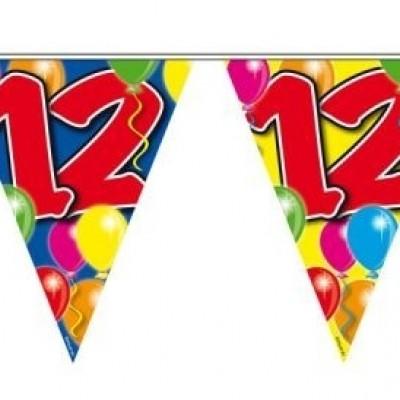 Foto van Vlaggenlijn balloons 12 jaar 10/s