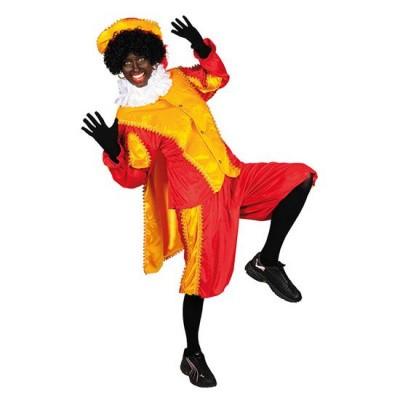 Foto van Pietenpak geel/rood met cape