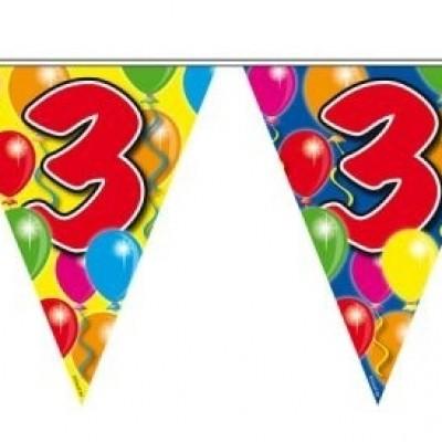 Foto van Vlaggenlijn balloons 3 jaar 10m/stk