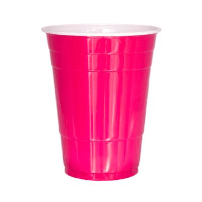 Foto van Pink cups 473 ml (25 st.)