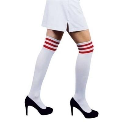 Foto van Cheerleader sokken wit rood