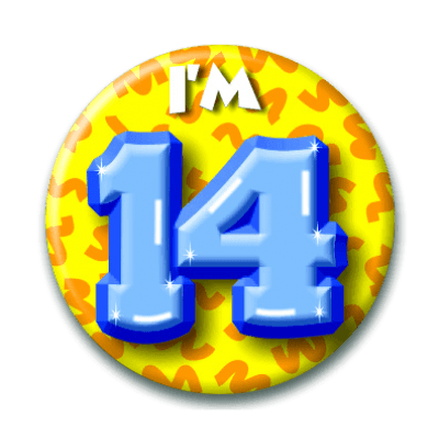 Foto van Button 14 jaar