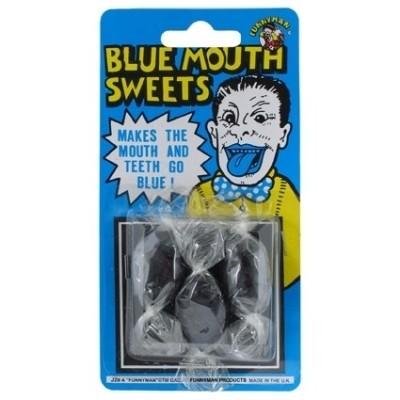 Foto van snoepjes blauwe tong
