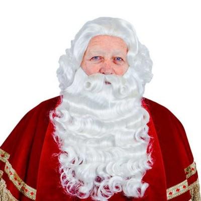 Foto van Sinterklaas baard met vaste snor kanekalon 34.127