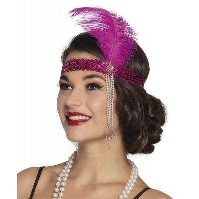 Foto van Hoofdband Great Gatsby roze