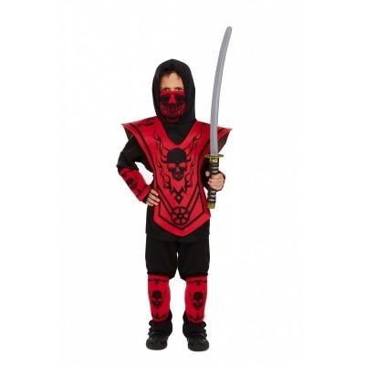 Foto van Ninja kostuum kind rood