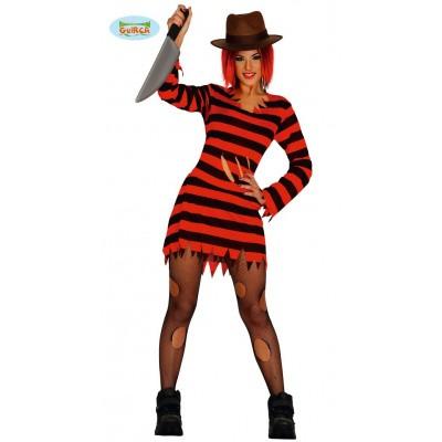 Foto van Freddy Krueger kostuum dames