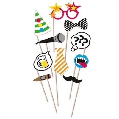 Foto van Photo booth props cartoon (10 stuks)