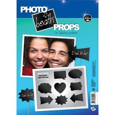 Photo booth props schrijfbaar (8 stuks)