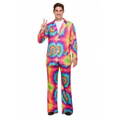 Foto van Hippie regenboog pak