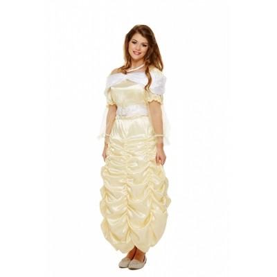 Foto van Prinsessen jurk geel