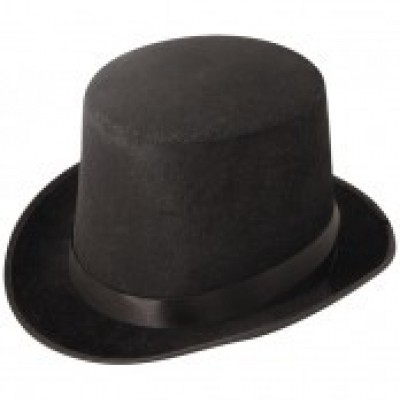 Foto van Hoge hoed fluweel laag