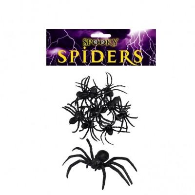 Foto van Zwarte spinnen 9 stuks