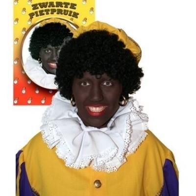 Zwarte Piet pruik zwart