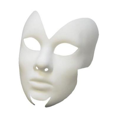 Foto van Venetiaans masker Farfalla grezzo wit