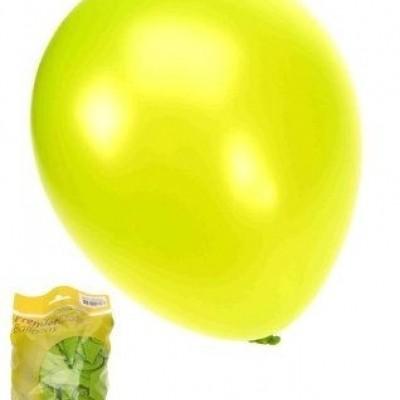 Foto van Kwaliteitsballon metallic appelgroen per 50 (Ø 14 inch / 36 cm)