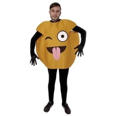 Foto van Emoticon kostuum knipoog en tong