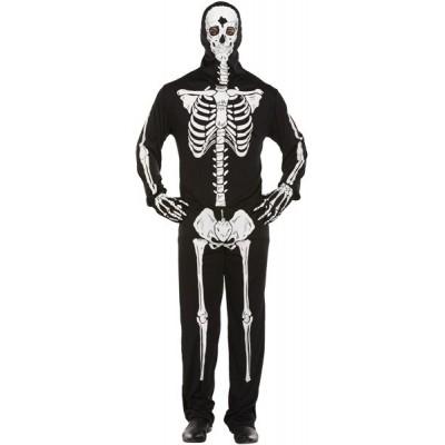 Skeletten kostuum hele lichaam