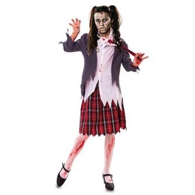 Foto van Zombie schoolmeisje kostuum