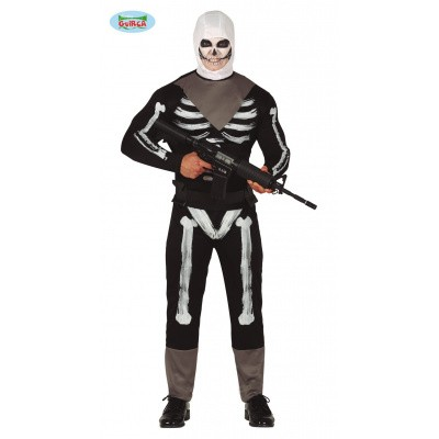 Foto van Fortnite kostuum - Skull trooper pak