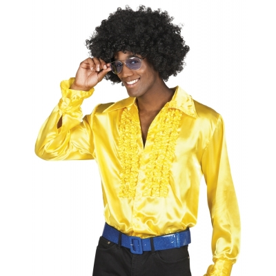 Foto van Disco overhemd geel