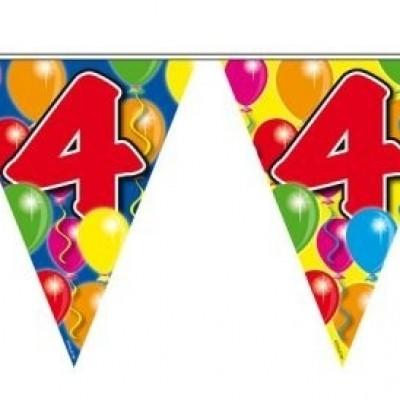 Foto van Vlaggenlijn balloons 4 jaar 10m/stk