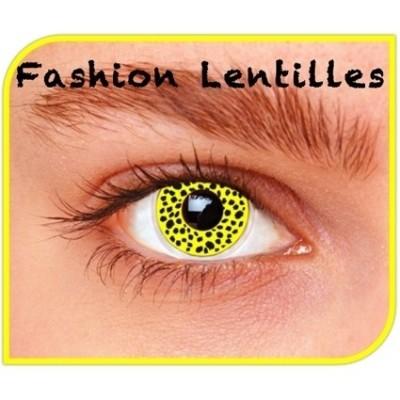 Foto van Kleurlenzen Yellow Cheetah maandlenzen