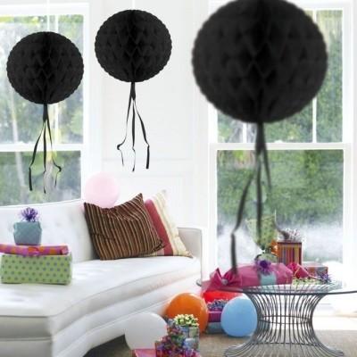 Foto van Honeycomb bal Zwart 30cm