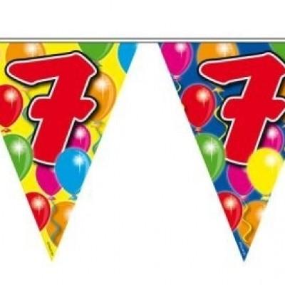 Foto van Vlaggenlijn balloons 7 jaar 10m/stk
