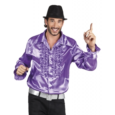 Disco blouse paars